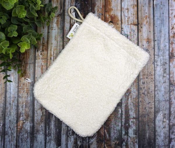 großer Waschhandschuh aus Bio-Baumwolle