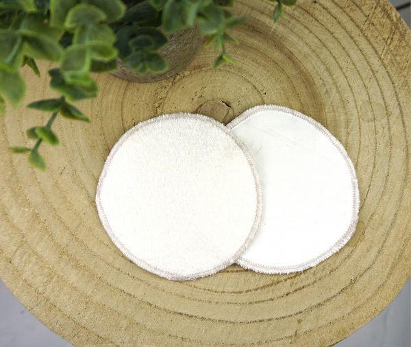 Abschminkpad aus Bambusviskose, Hanf & Bio-Baumwolle