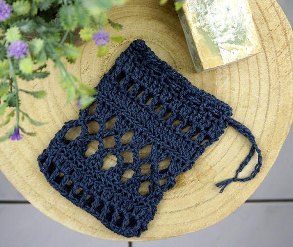 XL Seifensäckchen aus Leinen & Baumwolle