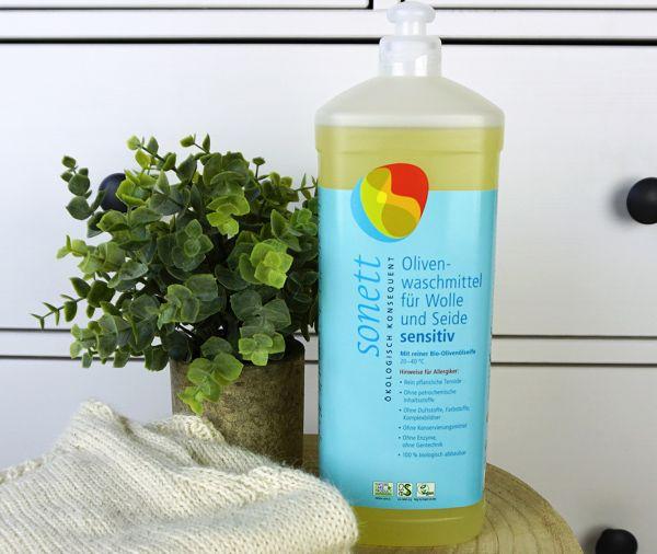 Sonett Olivenwaschmittel für Wolle & Seide sensitiv ∙ 1 l