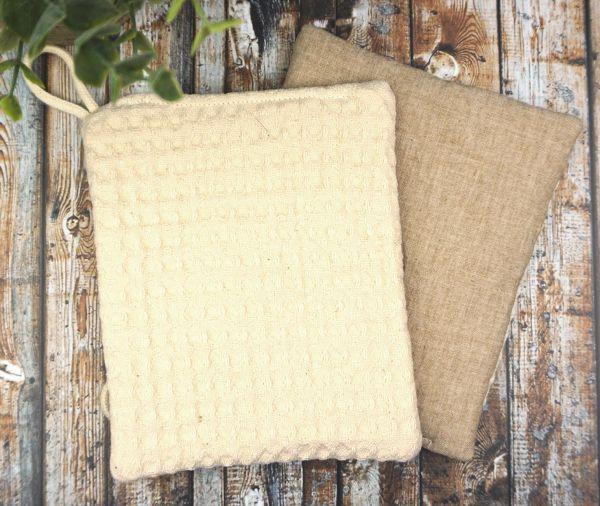 Schwamm zum Putzen & Spülen aus Bio-Baumwolle