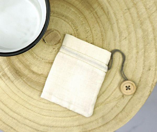 Teebeutel aus feiner Bio-Baumwolle